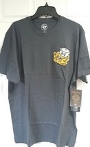 NCAA  Michigan Wolverines Retro Logo Blue Applique Fieldhouse Mens T Shirt Large - $26.68