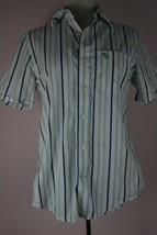 Abercrombie And Fitch Boy's Muscle Button Down Short Sleeve Shirt Size S - $8.83