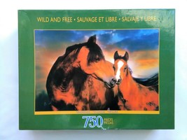 Horse Mother Foal Sure-Lox Wild Free 750 Piece Pc Puzzle NEW Sealed - $14.52