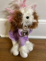 Spin Master Tini Puppini Fashion Tutu Puppy Dog 2008 Plush Toy w/ Purple Dress - $12.38