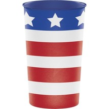 Patriotic USA Re-useable 22 oz Cup Plastic July 4th Veterans Memorial - $2.19