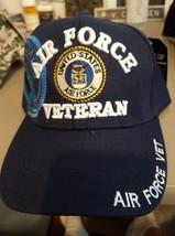 US Air Force Veteran & seal on a dark blue ball cap - $20.00