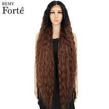 REMY FORTE Extra Long Water Ripple Synthetic Hair Wigs 40 Inches Long Soft Hair