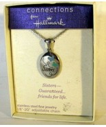 Hallmark Connections Necklace Sisters Guaranteed Friends for Life - $5.93
