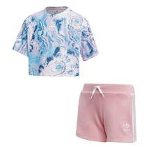 COMPLETE CHILD ADIDAS MARBLE ST SET DV2343  PINK - $61.68