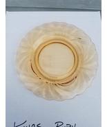 Vintage Amber  Depression Glass 8 inch plate - $7.91