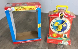 Fisher Price 998 Music Box Windup Teaching Clock Vintage 1968 Original P... - $47.49