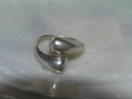 Estate 925 Marked Silver Tapered Band MODERNIST Wrap Ring Size 6.25 – ha... - $18.59