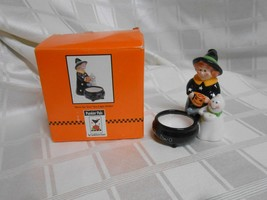 Midwest Cannon Falls Sandi Gore Evans Halloween Witch Tealight Holder - $5.00