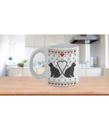 Ugly Christmas Sweater Pattern Cat Kitty Lovers Coffee Mug Gift v3 - $14.84+