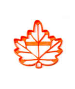 Maple Leaf With Detail Leaves Fall Autumn Canadian Symbol Cookie Cutter ... - ₹222.47 INR