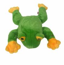 "TY Beanie Buddies Very Soft Green Frog Baby 15"" Plush Stuffed Animal 1998 - $25.73"