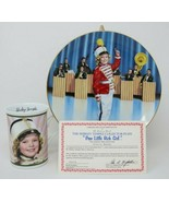 The Danbury Mint Shirley Temple Collector Plate & Mug Poor Little Rich G... - $27.23