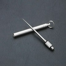 Outdoor Camping Titanium Toothpick Fruit Fork Keychain Survival Tool Por... - $9.47