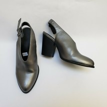 Kenneth Cole Reaction Womens Shoes Heels Slingback Metallic Silver Size US 6.5 M - $54.40