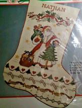 "Bucilla 82738 Yuletide Santa Christmas Stocking 18"" Counted Cross Stitch  - $48.14"
