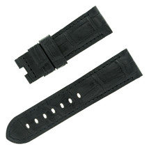 Panerai 24 - 22 mm Black Alligator Leather Men's Watch Band - $457.39