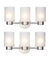 Westinghouse 6227900 Sylvestre Three-Light Interior Wall Fixture, Brushed Nickel - $128.95