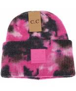 Hot Pink/Black Tie Dye CC Beanie - £16.55 GBP