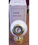 Miniature Golf Ball Clock White for Desk  Working NEW battery NIB - $24.70