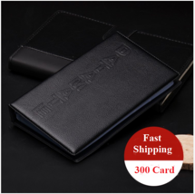 Leather 300 Cards Business Name ID Credit Card Holder Book Case Keeper O... - $5.23