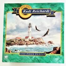 "Hasbro Jigsaw Puzzle Rudi Reichardt ""Boston Lighthouse"" 1000 Pieces"