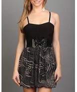BLACK/BEIGE BABYDOLL DRESS BELT INCLUDED  - $12.74
