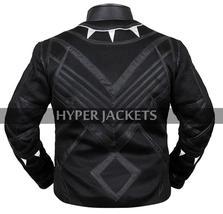 Black Panther Avengers Infinity War T'Challa (Chadwick Boseman) Black Leather Co image 8