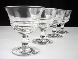 Fostoria Century Champagne Coupe Glasses 4 pc Set, Vintage Pressed Tall Sherbet - $29.19