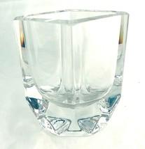 """Kosta Boda Crystal Vase 1970's Vintage S Persson Designer  5"""" - $53.20"""