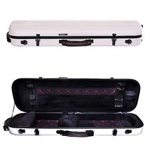 Tonareli Violin Oblong Fiberglass Case- White with Red Interior Stitchin... - $229.00
