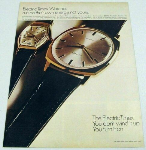 Primary image for 1967 Print Ad Timex Electric Wrist Watches Ladies & Mens Watch