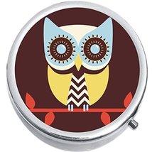 Colorful Owl Medicine Vitamin Compact Pill Box - $9.78