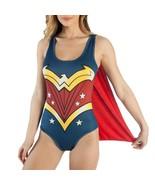 DC Comics Wonder Woman Bodysuit with Cape Blue - $34.98