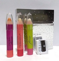 New Estee Lauder Pleasures Perfumed Pencils Gift Box Collection with Sha... - $35.64