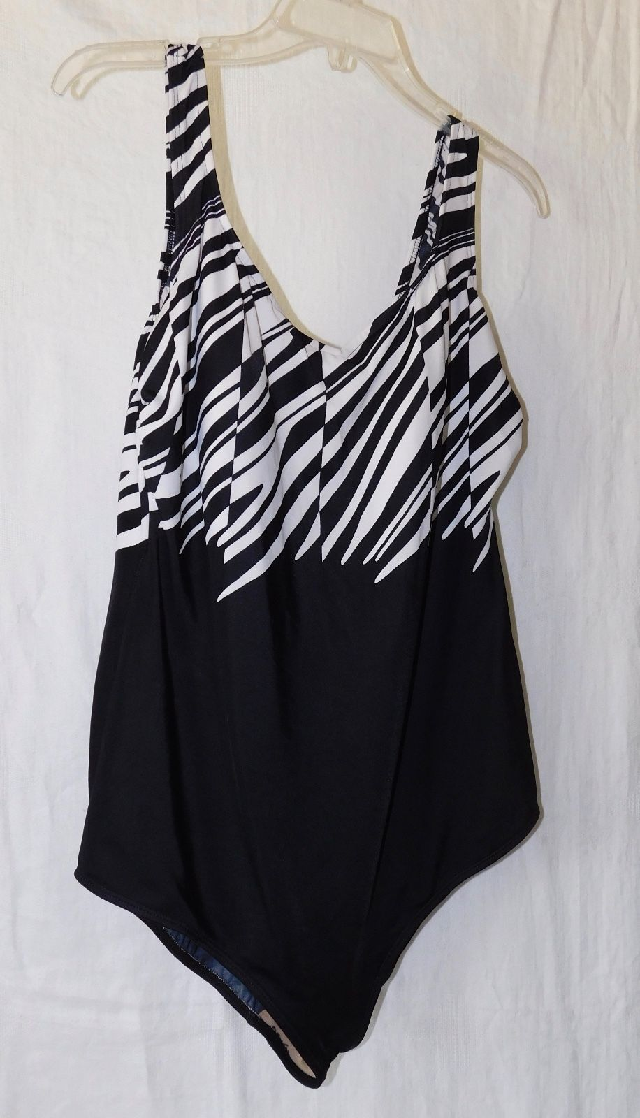 56d6023a9a Delta Burke Swimwear Black-White One-Piece and 50 similar items