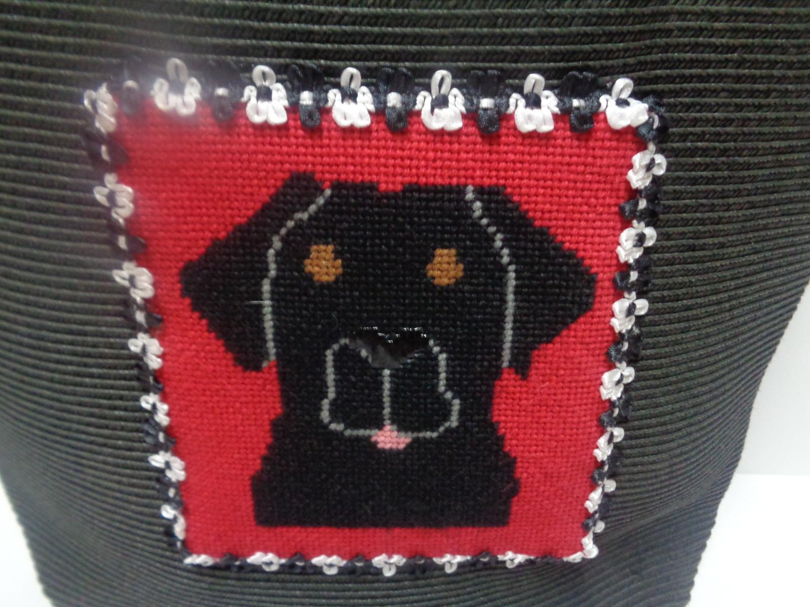 San Diego Hat Co Bamboo Ultra Braid Purse Black Rottweiler