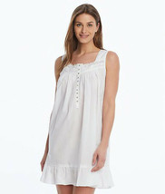 EILEEN WEST WHITE WOVEN SHORT CHEMISE, Size Small - $40.39