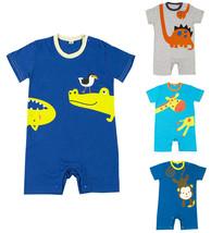 StylesILove Cute Cartoon Animal Print Baby Toddler Boy Romper - $11.99