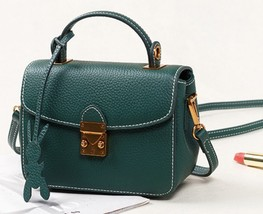 New Pebbled Italian Leather Cross Body Shoulder Bag Handbag Purse - $134.95