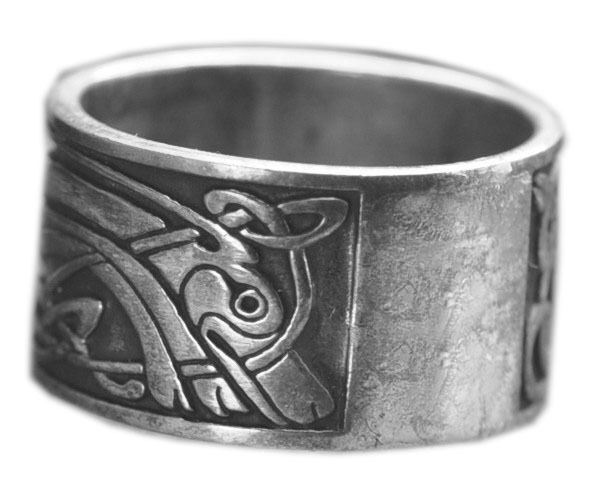New Celtic Dog infinity Knot Real Solid Sterling silver .925 Ring Band Jewelry