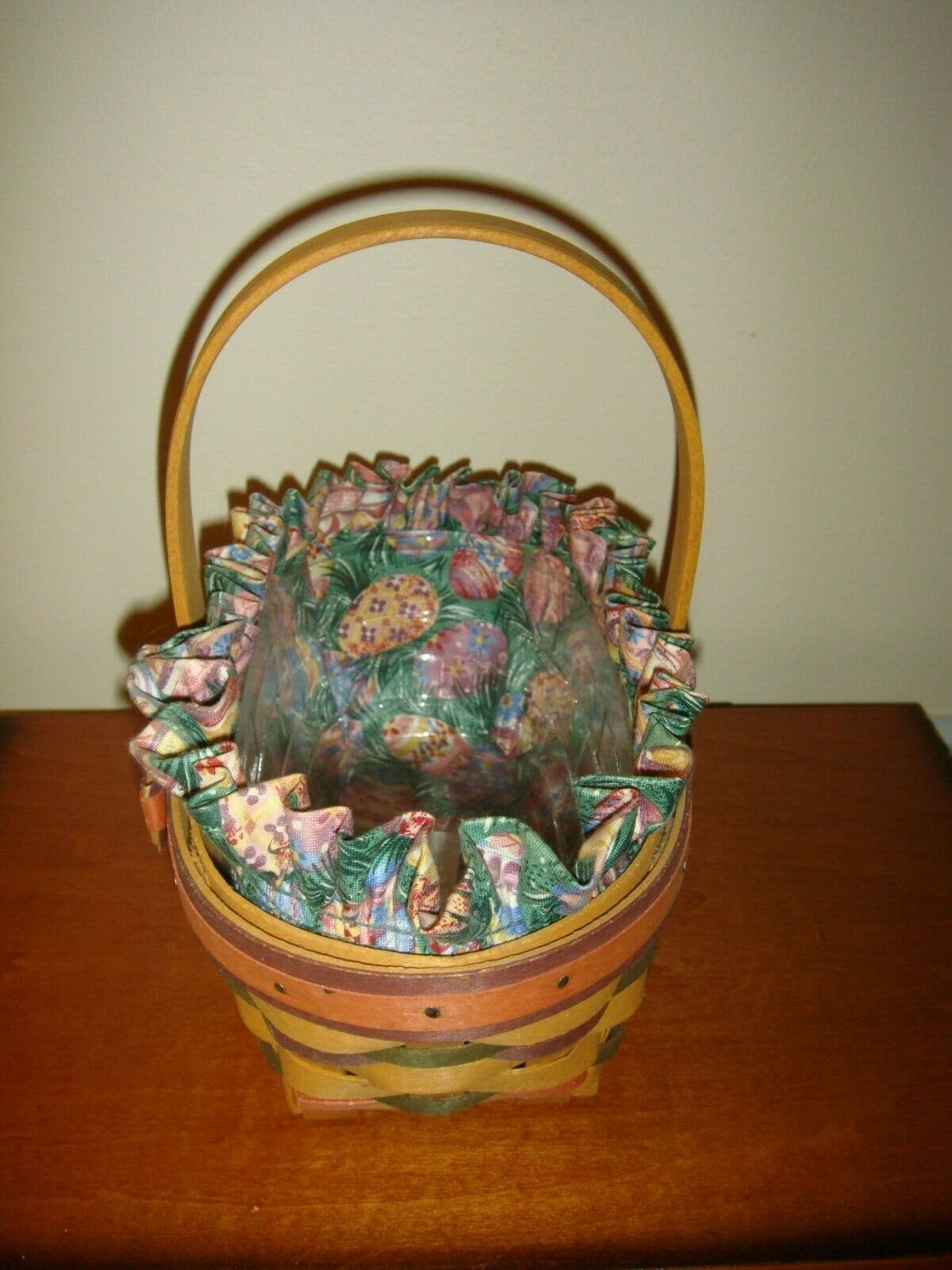 Longaberger 1997 Small Stained Easter Basket