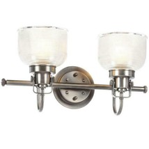 Progress Lighting Archie 17 in. 2-Light Antique Nickel Bathroom Vanity L... - ₹6,036.89 INR