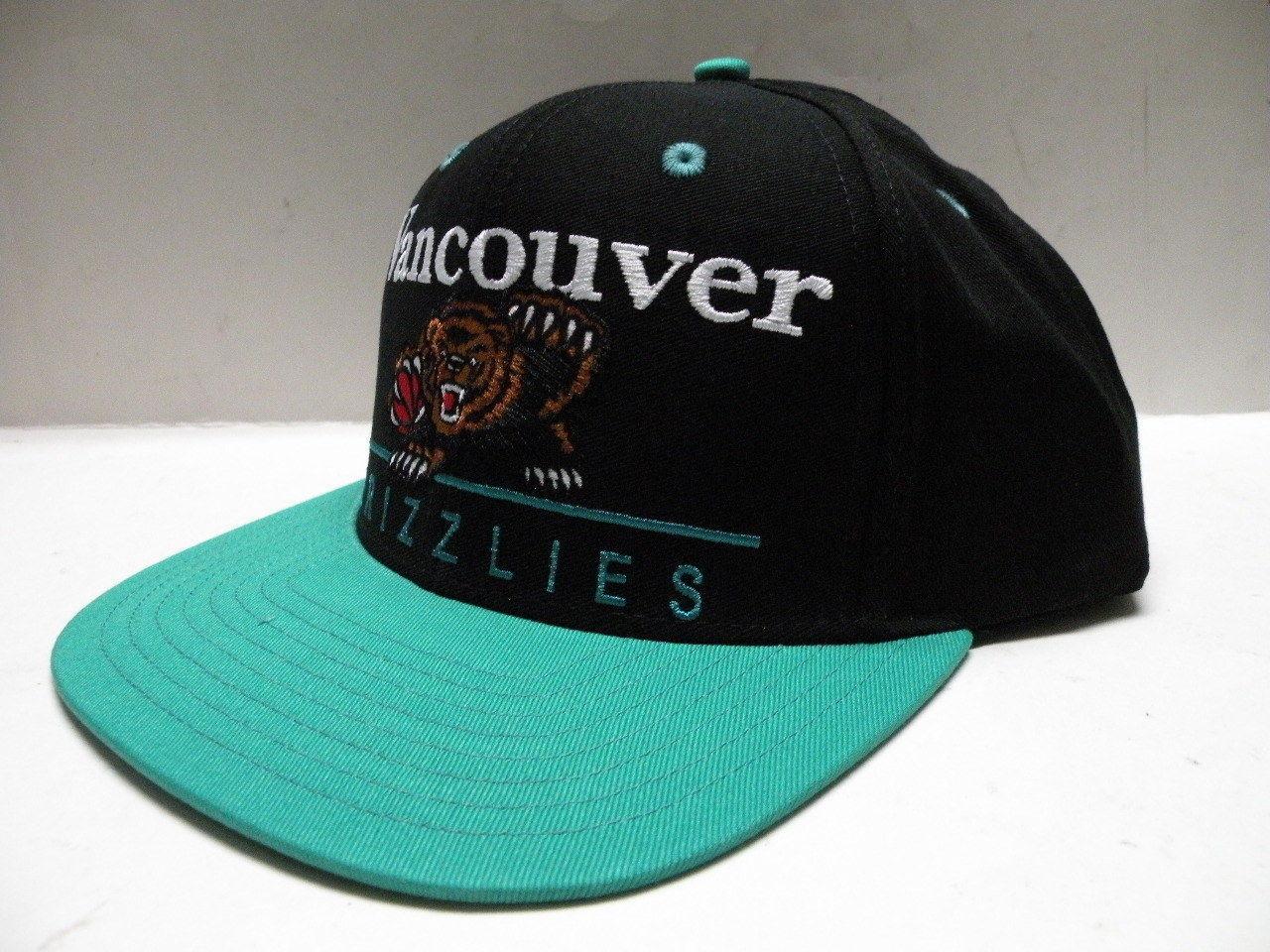 NBA Vancouver Grizzlies Block Script Black 2 Tone Snapback Cap Memphis