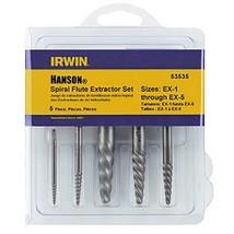 Irwin Industrial Tools 53535 Spiral Screw Extractor Set 5-Piece - $13.67