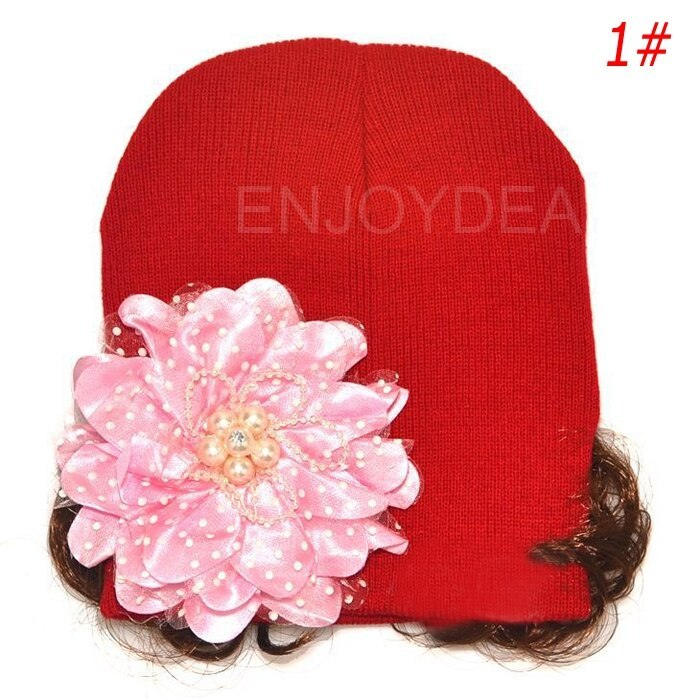 Primary image for Baby Cap Fashion Lovely Winter Warm Hat Flower Pattern Knitted Earflap Cap with