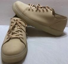Dr. Martens Doc Monotone Low Leather Nubuck Oxford Shoes Sz 13 US 12 UK Beige - $48.70