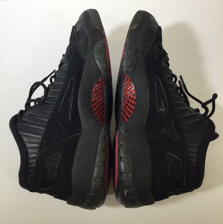detailed look d77f5 2e01e Nike Air Jordan XI 11 Low IE Retro Black Red Referee 306008-003 Mens Size