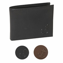 Nautica Men's Bifold Genuine Leather Credit Card ID Passcase Wallet 31NU22X036