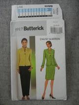 Lined Jacket Skirt Pants  David Warren Misses 12 14 16 Butterick 3917 UC FF - $8.00